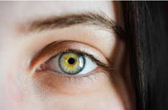 Girl's Left Eye close up