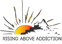 Rising above addiction logo