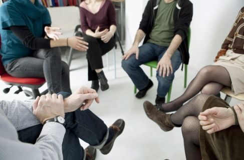 group therapy session in intensive outpatient service