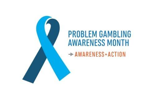 problem gambling awareness month ribbon