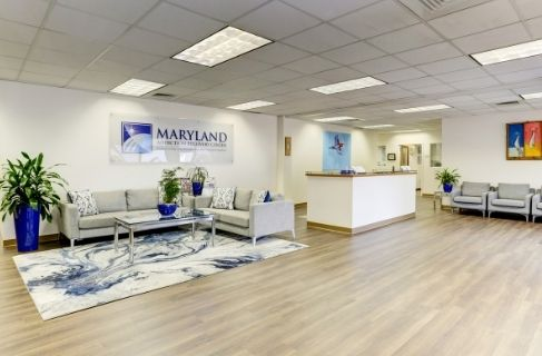 lobby of maryland addiction treatment center